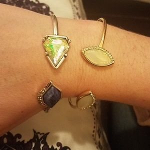 Jewelry - Opal bling bracelet stack arm candy